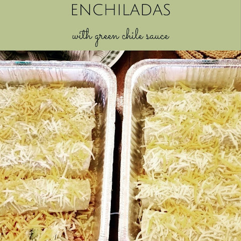 Turkey and Zucchini Enchiladas with Green Chile Sauce
