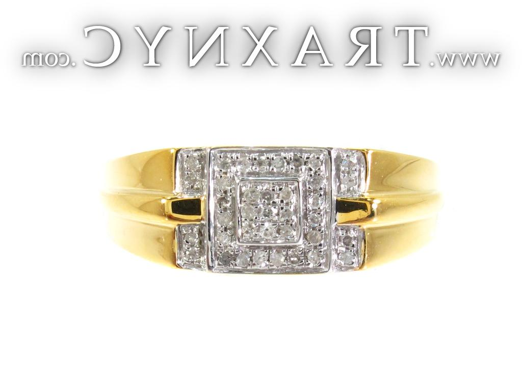 Diamond Double Square Ring