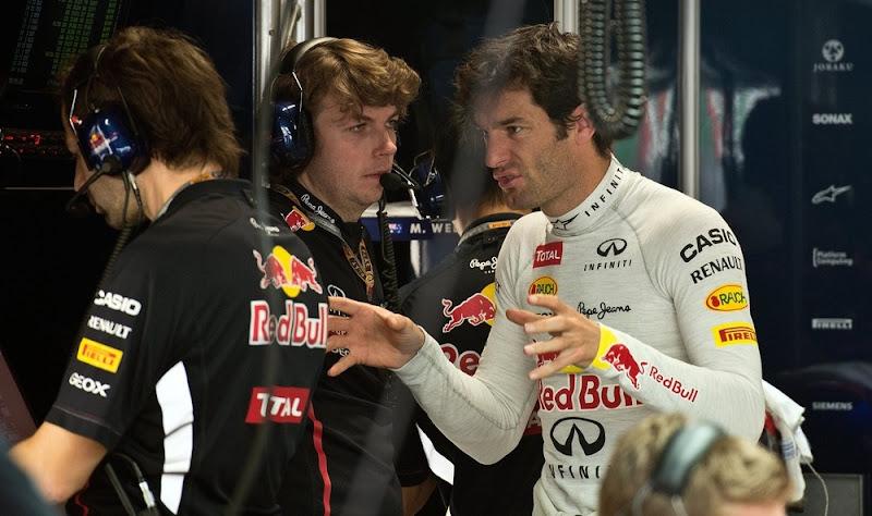 Марк Уэббер и Гэвин Уорд на Гран-при Индии 2012