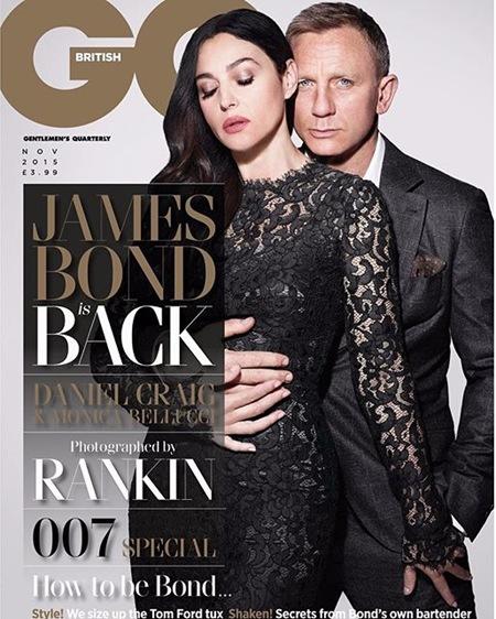 Monica Bellucci and Daniel Craig for British GQ November 2015