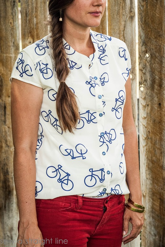 marigold bicycle top sew a straight line-11