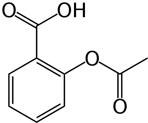 Structure Of  Acetylsalicylic Acid