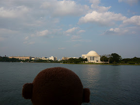 CM looking across the tidal basin