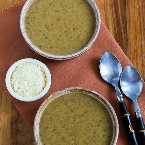 Cauliflower and Mushroom Pressure Cooker Soup with Parmesan