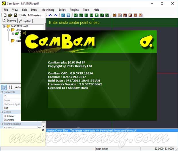 CamBam plus 0.9.8P