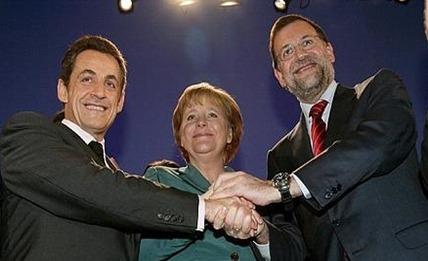 Rajoy Merkel Sarkozy