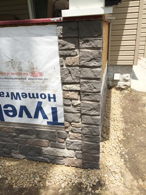 Exteria Creek Ledge Stone Install Column Base