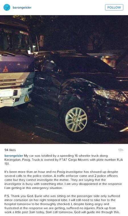 Baron Geisler car accident