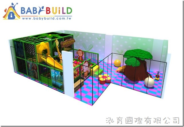 BabyBuild 室內3D泡管兒童遊具設計圖(叢林動物主題)