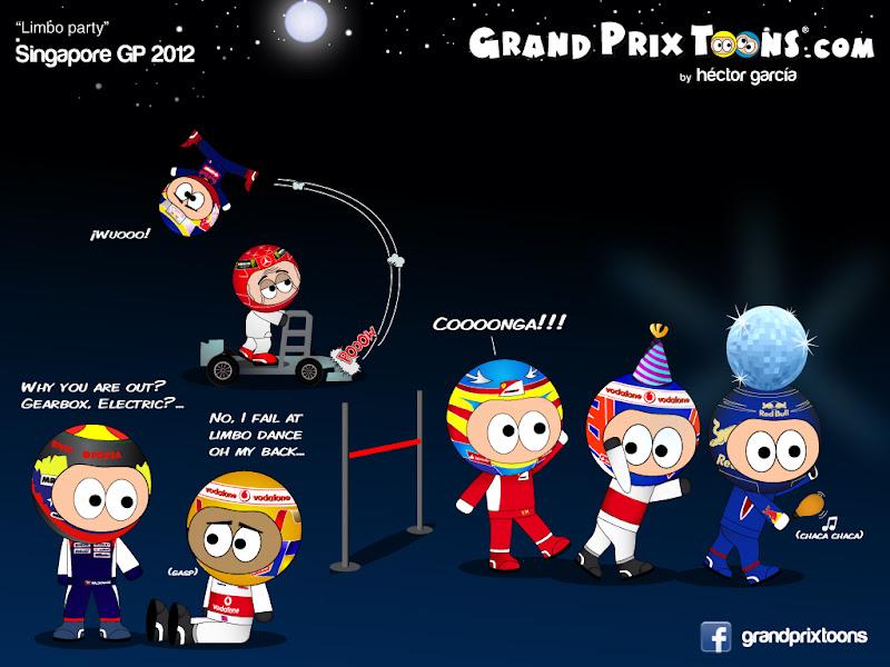 Limbo Party на Гран-при Сингапура 2012 - комикс Grand Prix Toons