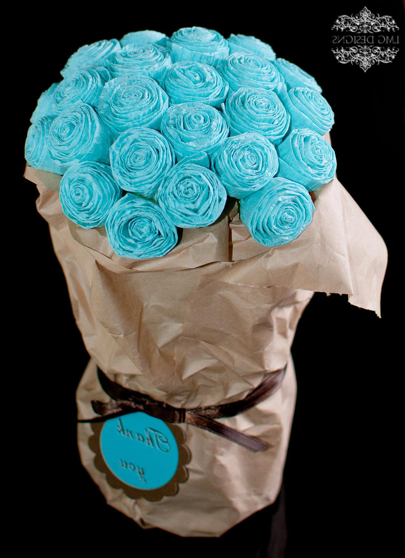 Tiffany Blue Paper Roses