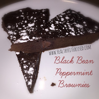 "Black Bean Peppermint Brownies, ""Healthy"" Brownies, www.HealthyFitFocused.com"