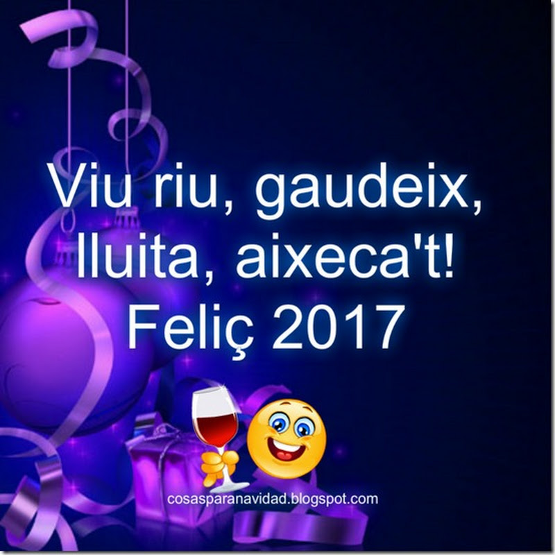 Feliç Any 2017 targetas de Nadal