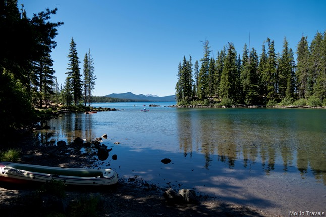 Waldo Lake near the swimming area
