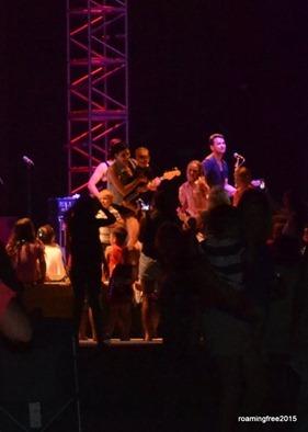 Jacob on stage