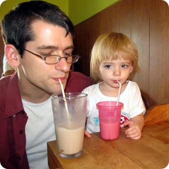 Elaine's first chocolate milk