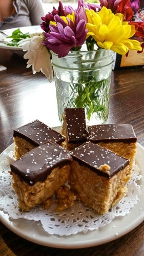 Peanut butter bar at Pizza Luce