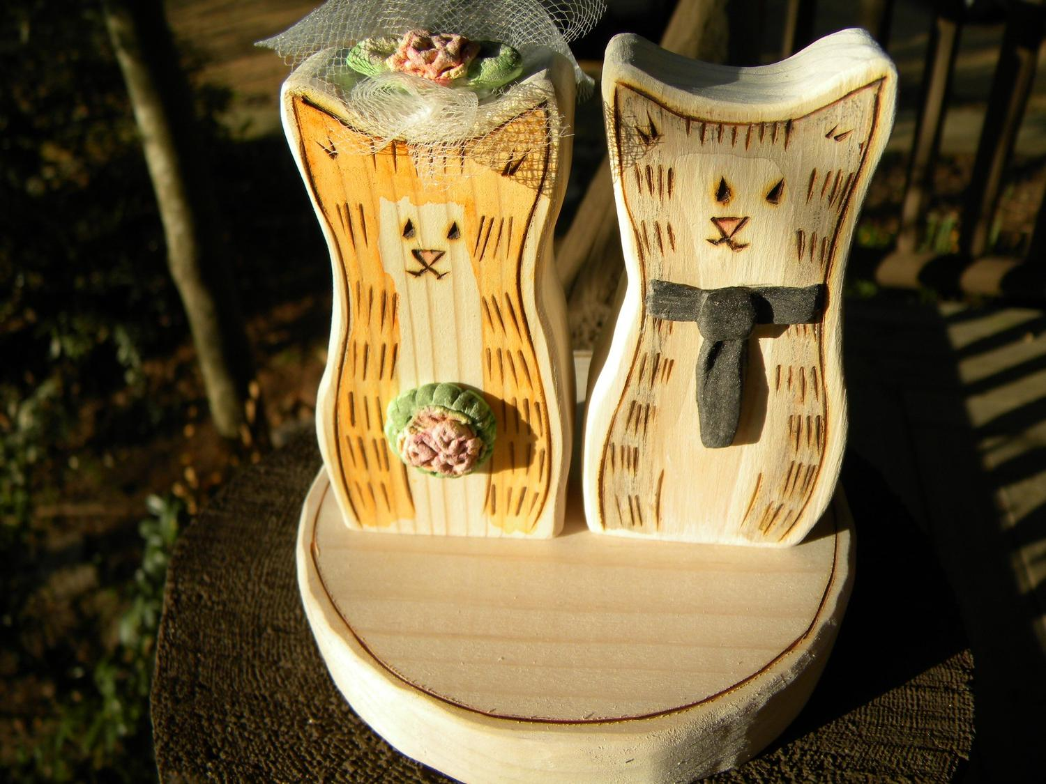 Cat Wedding Cake Topper,