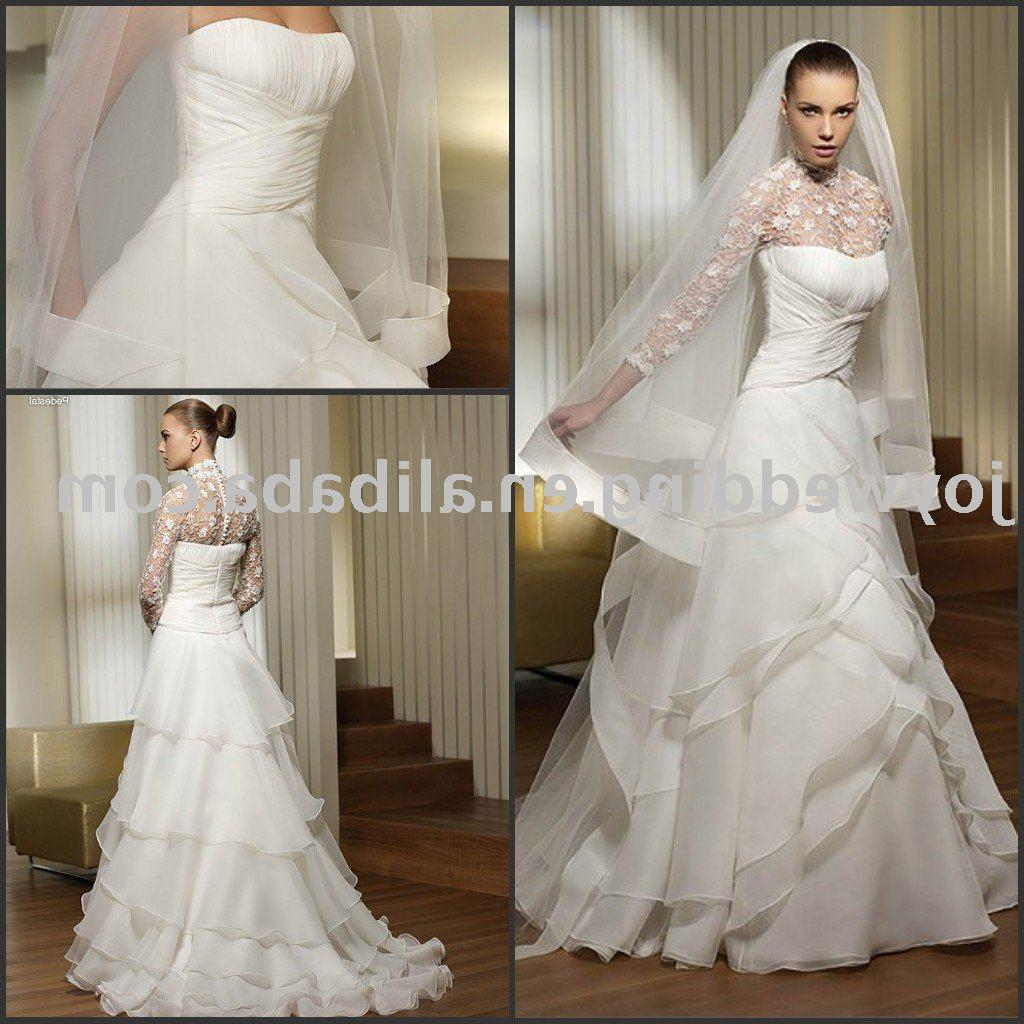 Popular new white ivory lady wedding gown W1668