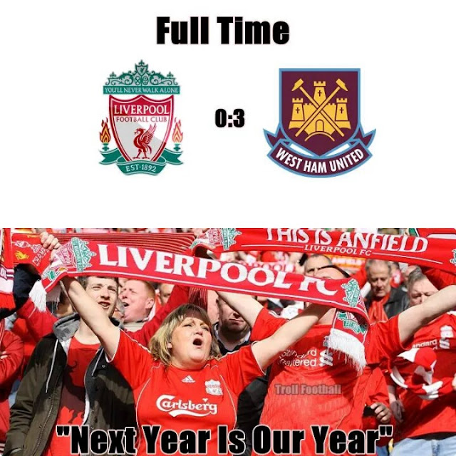 meme, liverpool, west ham united, bpl