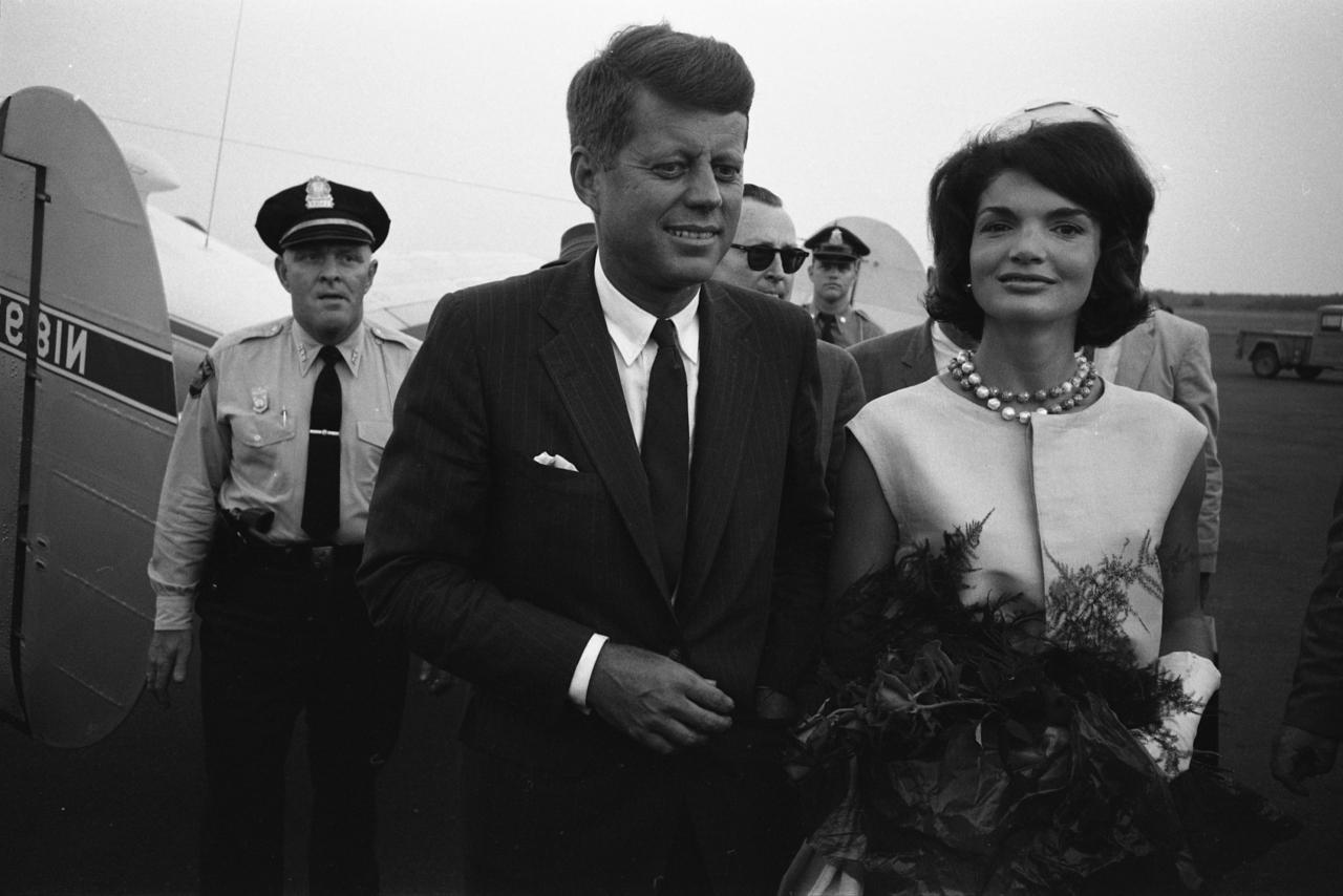 Jackie and John F Kennedy 1960