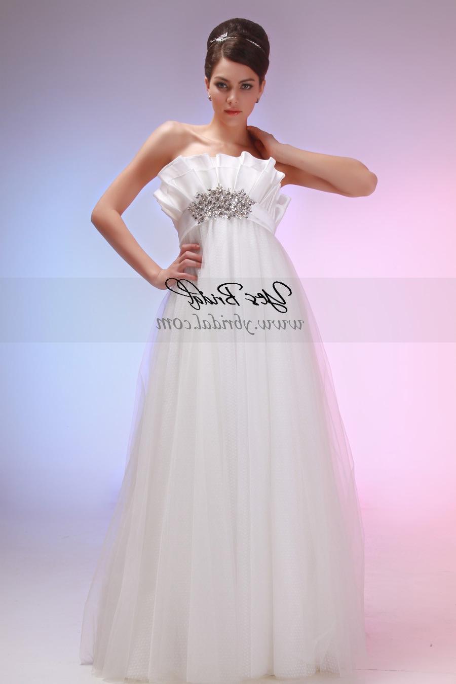 Train Tulle Wedding Dress