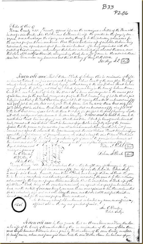 John A. Irwin,Catharine IrwinWaynesville, Warren Co, OH,Jacob F. McKay 1854 2