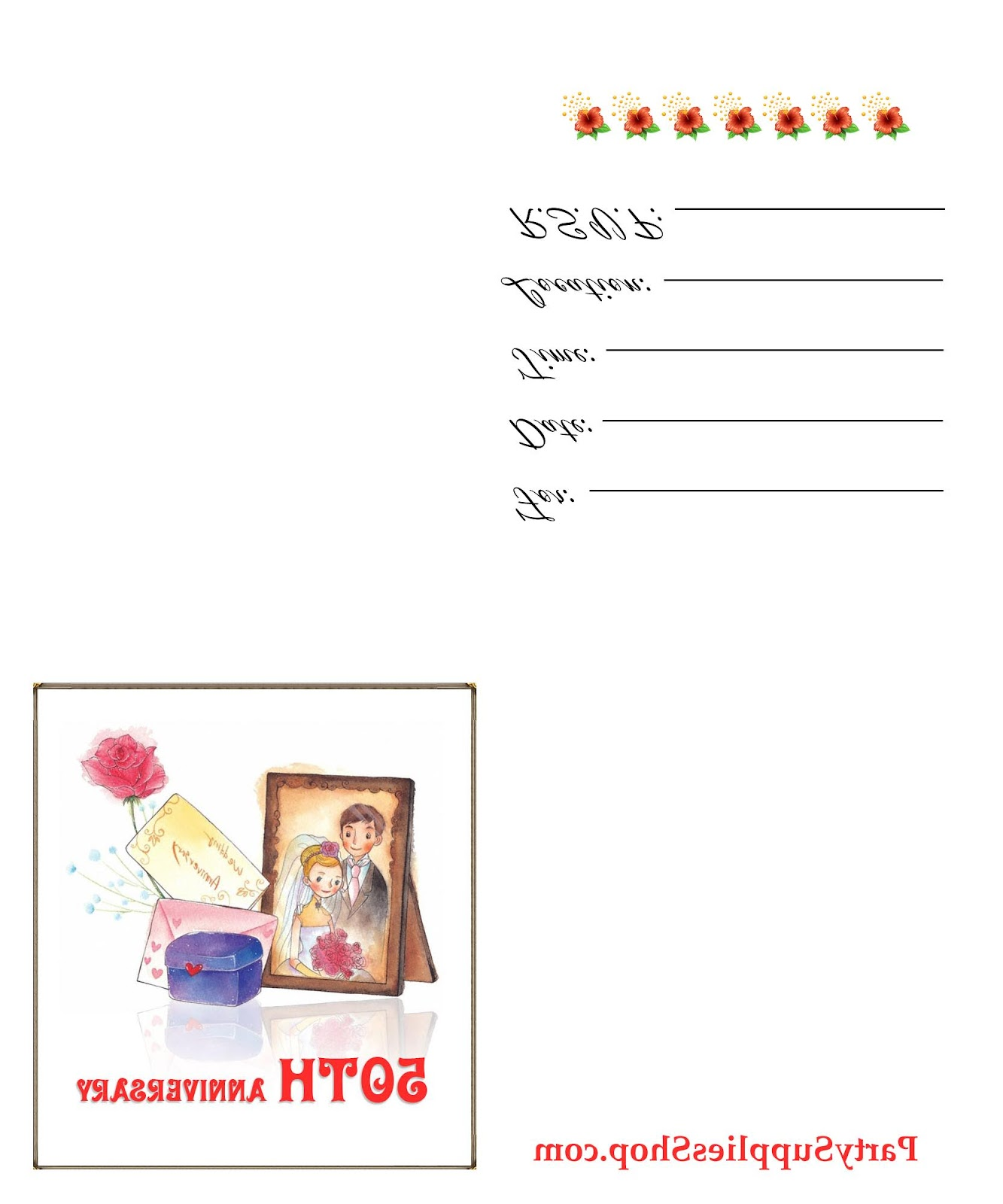 Free Printable 50th Wedding