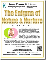 Enigma of Nature & Nurture poster