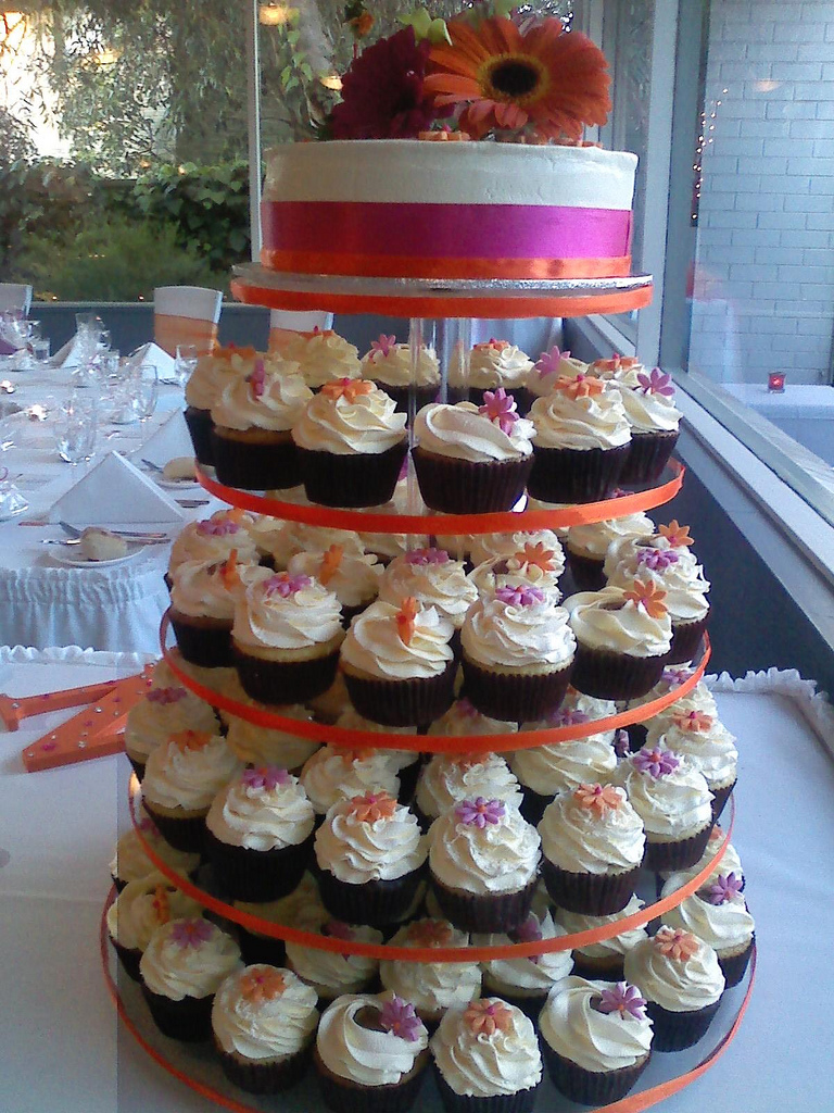 Spring Summer Wedding Cupcakes