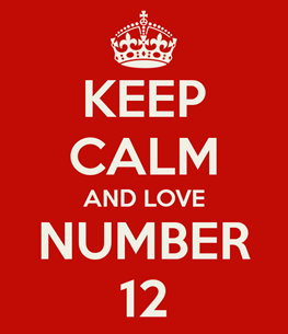 keep calm and love number 12