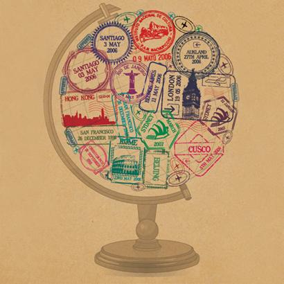 passport globe