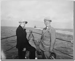 Truman and Byrnes returning from Potsdam