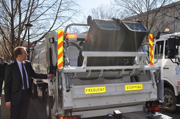 simon corbell and the new garbage trucks