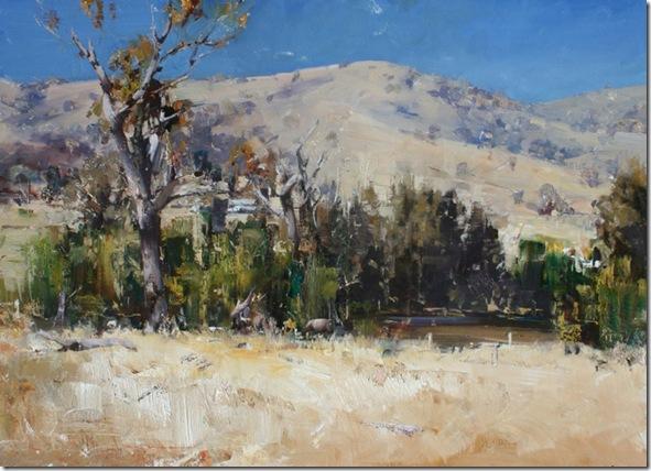 Summer Landscape-Ken-Knigth-ENKAUSTIKOS