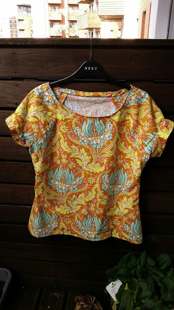 Poppybead blog - Belcarra Blouse in Amy Butler fabric