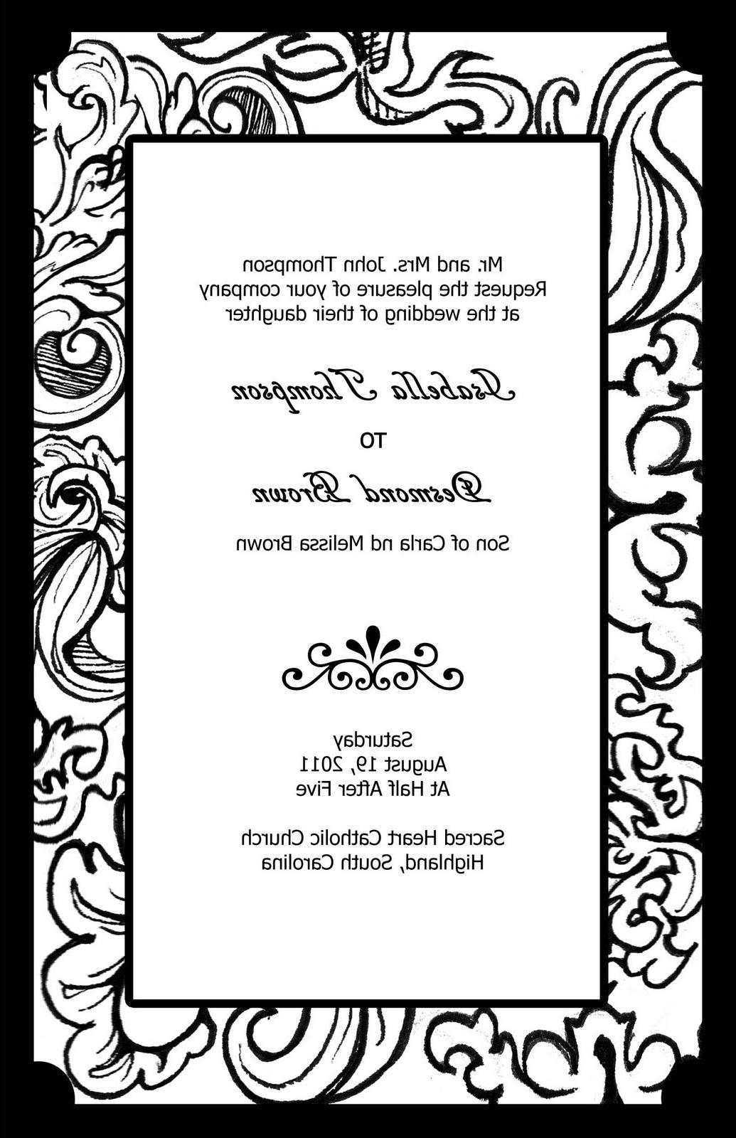 my Wedding invitation - design