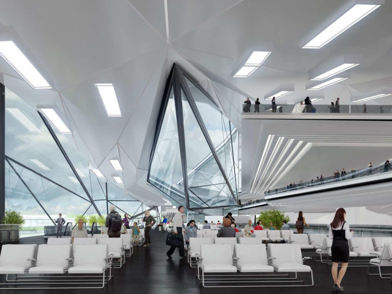 Passenger Service Center by Urban Office Architecture