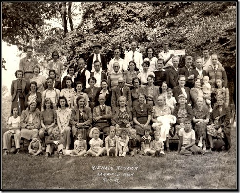 Niehaus Reunion, Garfield Park, Indianapolis, 15 September 1940