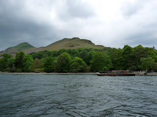 Looking to Catbells from the boat.