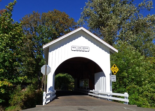 Neal Lane Bridge, shortest covered bridge in Oregon