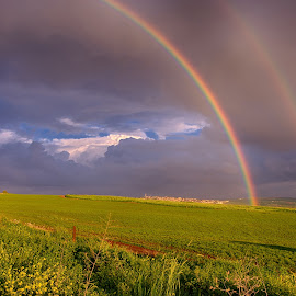 Double Rainbow  by Max Molenaar - Landscapes Cloud Formations ( clouds, hdr, weather, places, rainbow )