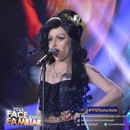 YFSF - KZ Tandingan as Amy Winehouse