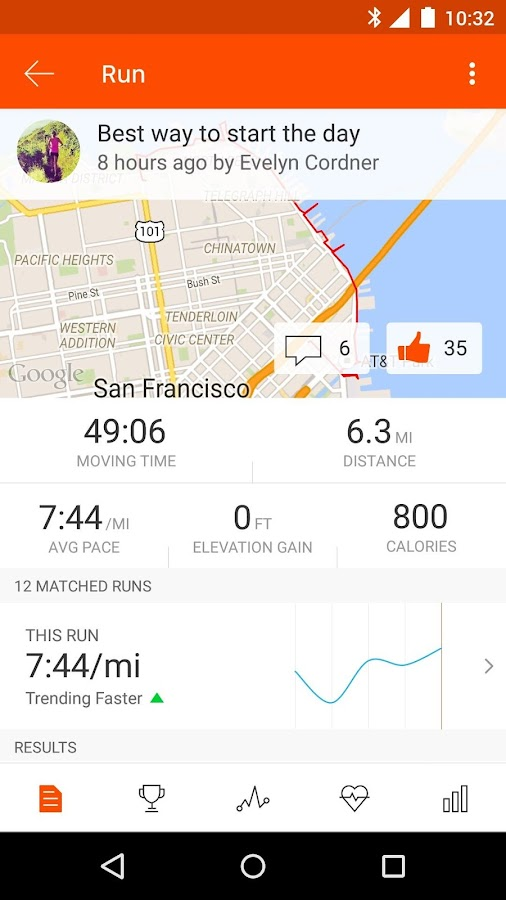 Strava Running and Cycling GPS Screenshot 2