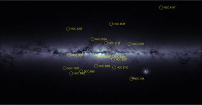 mapa de densidade estelar da Via Láctea