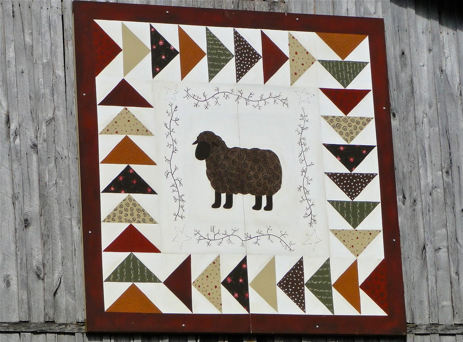 The finished barn quilt was