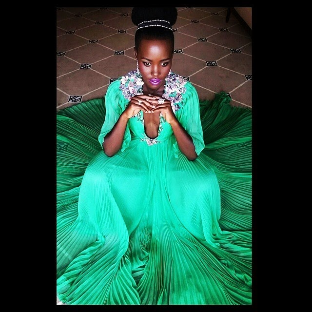 Lupita Nyong'o Green Gucci Dress  Takes Center Stage At The Cannes Film Opening