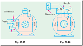 single phase motors types of capacitor\u2013start motors electric equipment36 19) whereas for higher voltage, they are connected in series (fig 34 20) as will be seen from the above circuit diagrams, the starting