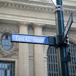 east 42nd street sign in New York City, New York, United States