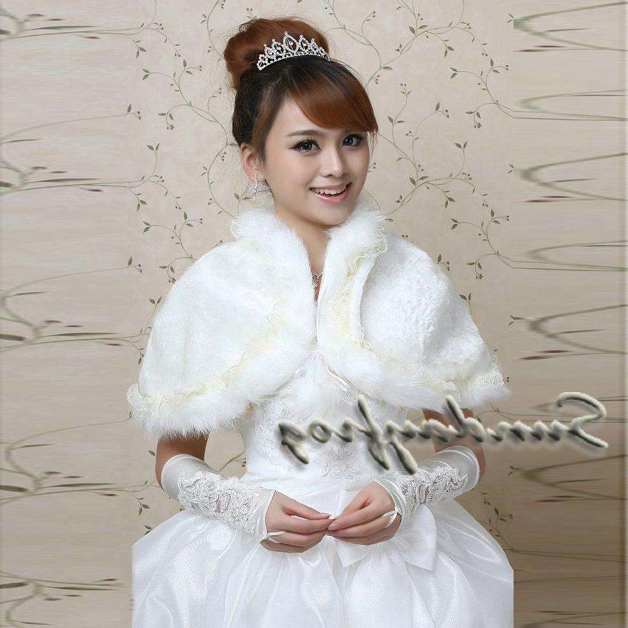Wholesale Free Shipping Faux Fur Special Occasion  Wedding Jacket  Wrap